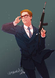 Kingsman the Secret Service + Glasses by xanseviera