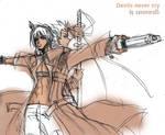 Dante x Vergil+kimi wo mamoru