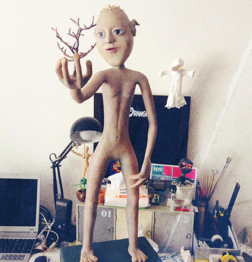 statue of Alien La-La by erez-mor