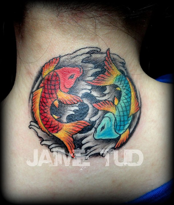 Yin yang koi by jaimetudtattoos on deviantart for Yin yang fish tattoo