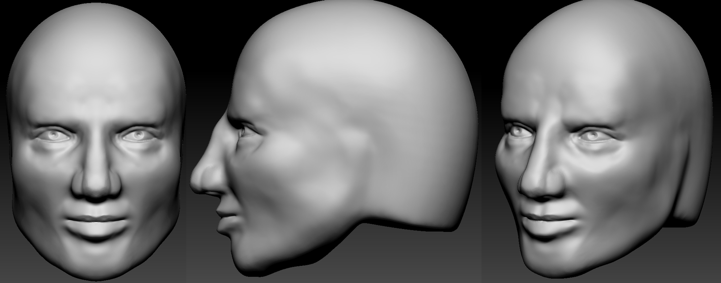 3d face attempt by Alioli1