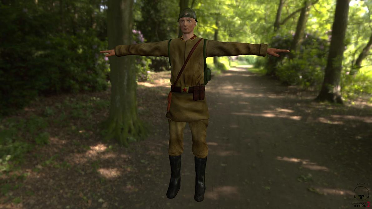 Soviet Soldier by Alioli1