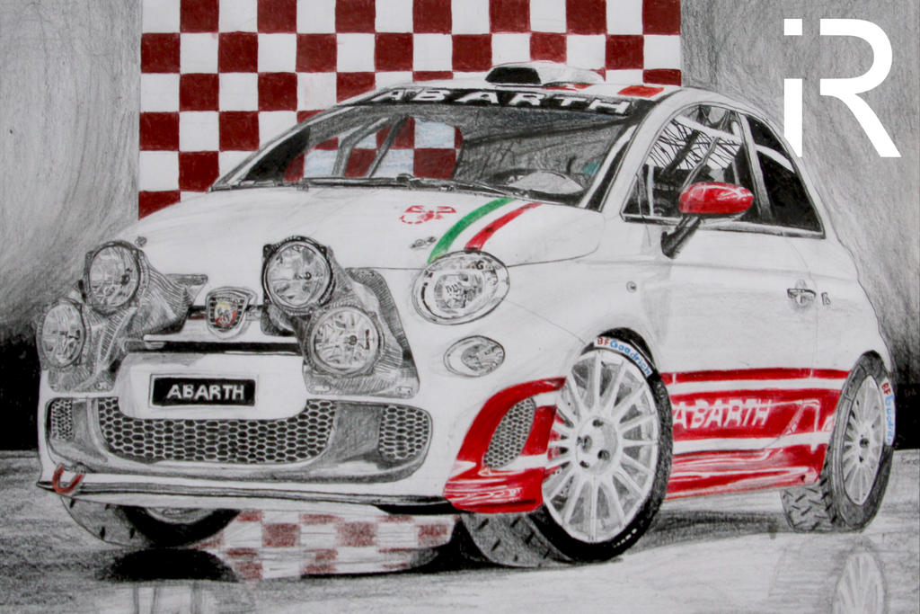 Abarth 500 R3t Drawing By Irecgraphics On Deviantart