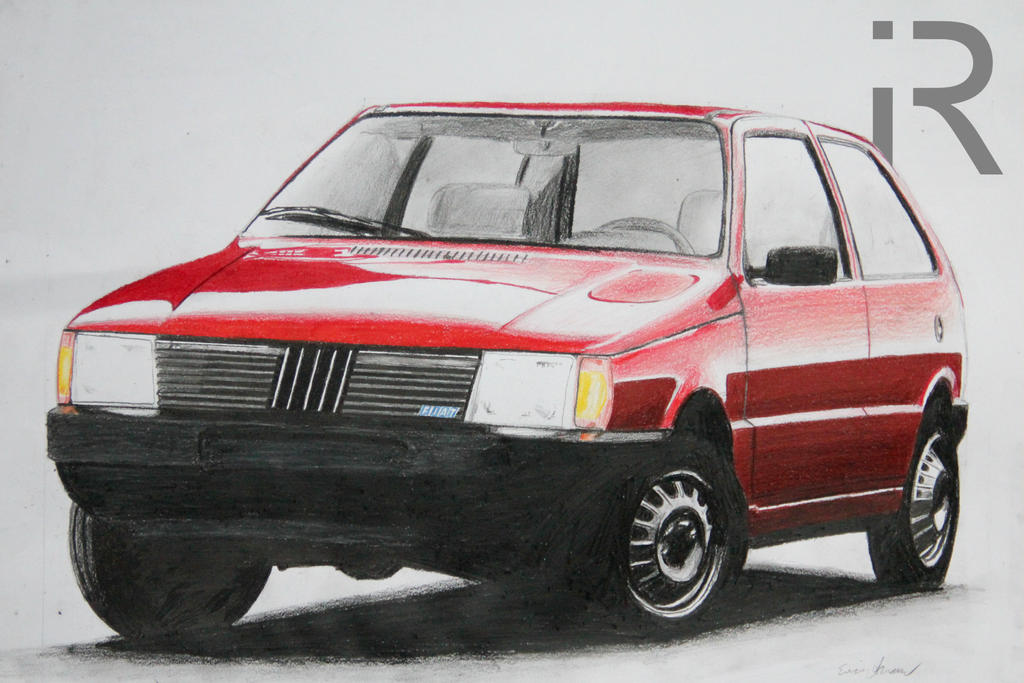 Fiat Uno drawing by iRecGraphics on DeviantArt