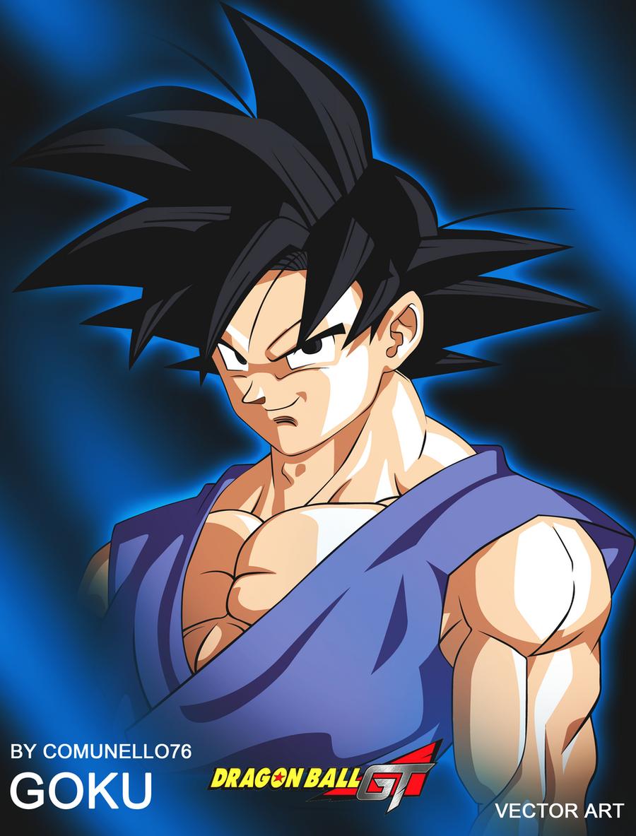 Goku gt vector art by Comunello76
