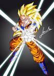 Goku super sayan 3 Vector art