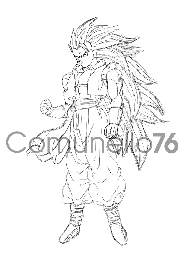 Ssj Drawing Pix For Gogeta Ssj Drawing