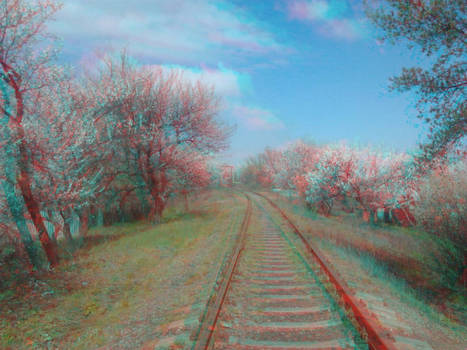 railroad (anaglyph 3D)