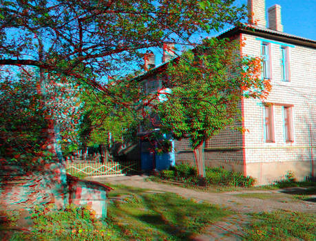 courtyard (anaglyph 3D)