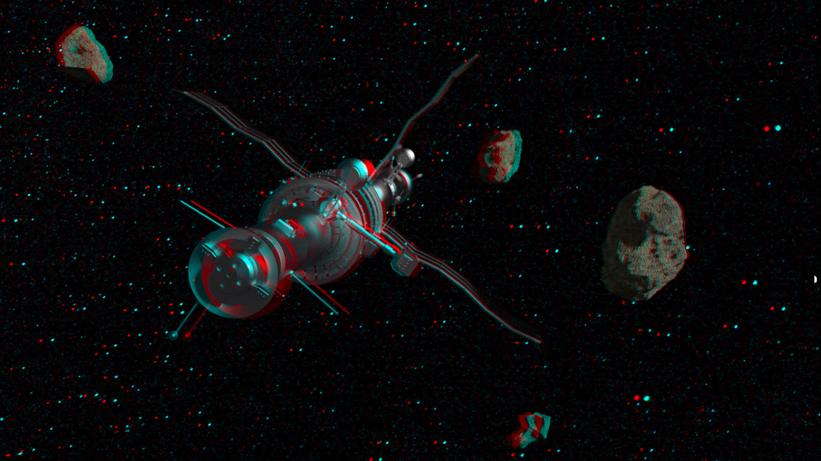 In deep space anaglyph 3d by megomedveddd on deviantart for Space in 3d