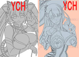 YCH #19 and #20 'BUST'  3 SLOTS [OPEN] by ranshin06