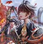 Zhongli portrait by ranshin06