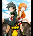 ash misty and pikachu