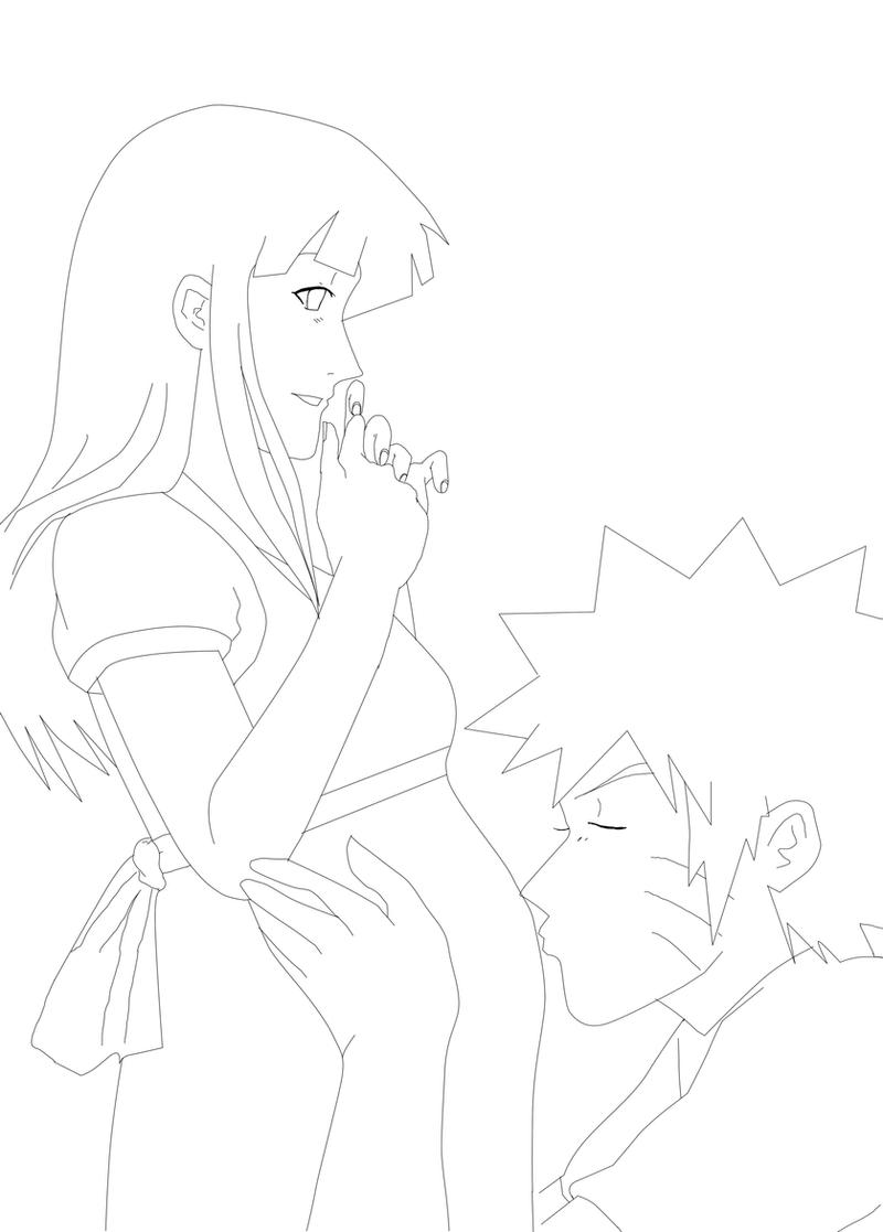Line Art Kiss : Baby first kiss line art by nishi on deviantart