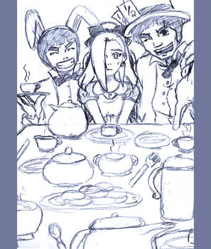 ino in wonderland sketch