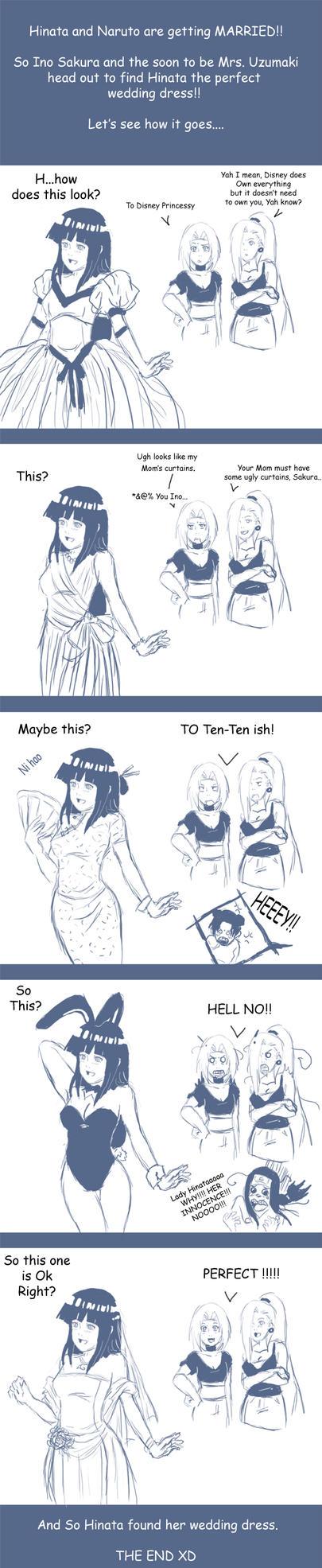 Naruto: wedding dress by Nishi06