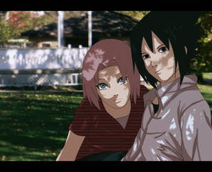 sasusaku: at the park by Nishi06
