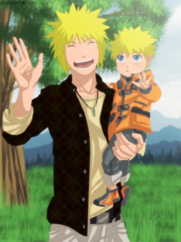Minato and Naruto by Nishi06