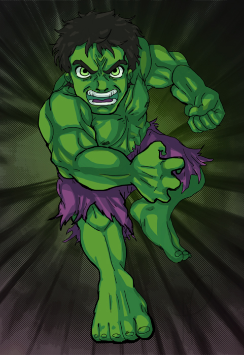 Chibi Hulk Cute Chibi Hulk by Nishi06