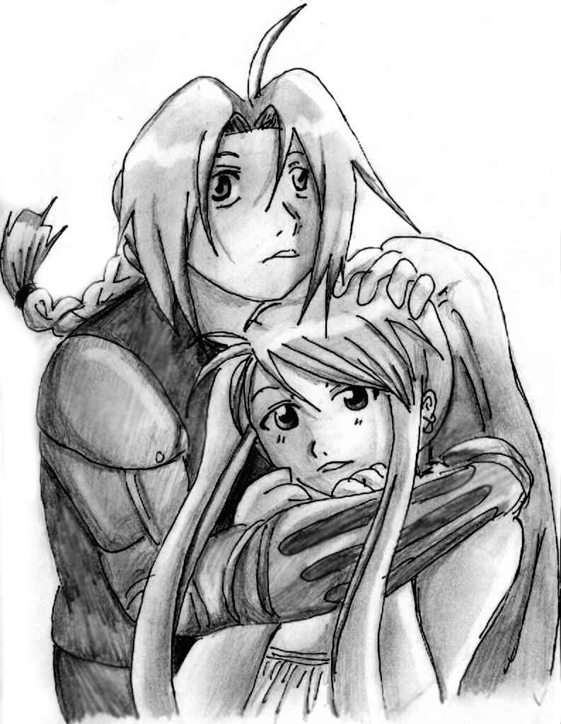 Ed and Winry by Nishi06