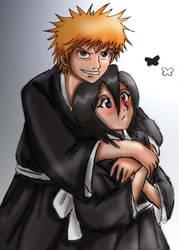 Fades request-Ichigo and Rukia by Nishi06