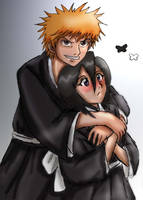 Fades request-Ichigo and Rukia by Nishi06