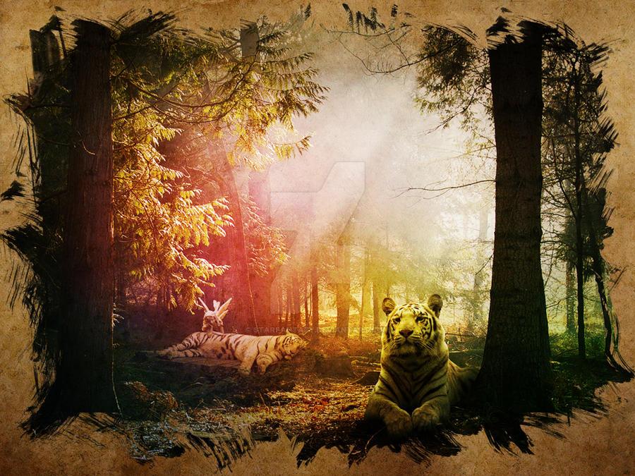 tiger garden by starfantazy