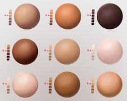 Skin Swatches / Values by MegoMyLego