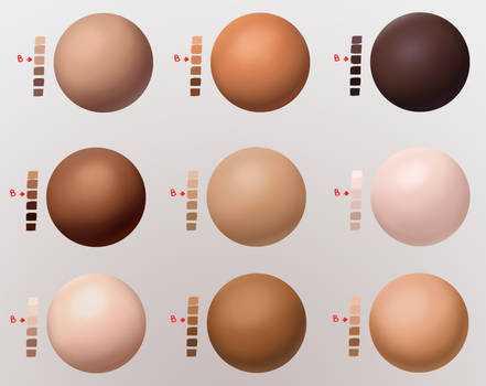 Skin Swatches / Values