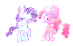 Crystal Rarity and Pinkie Pie