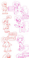 SKETCHY COMIC:: Pinkie and Steven