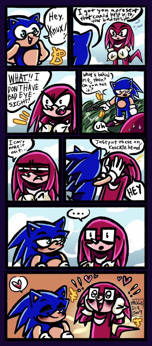 A Present For Knuckles by Mushroom-Cookie-Bear on DeviantArt