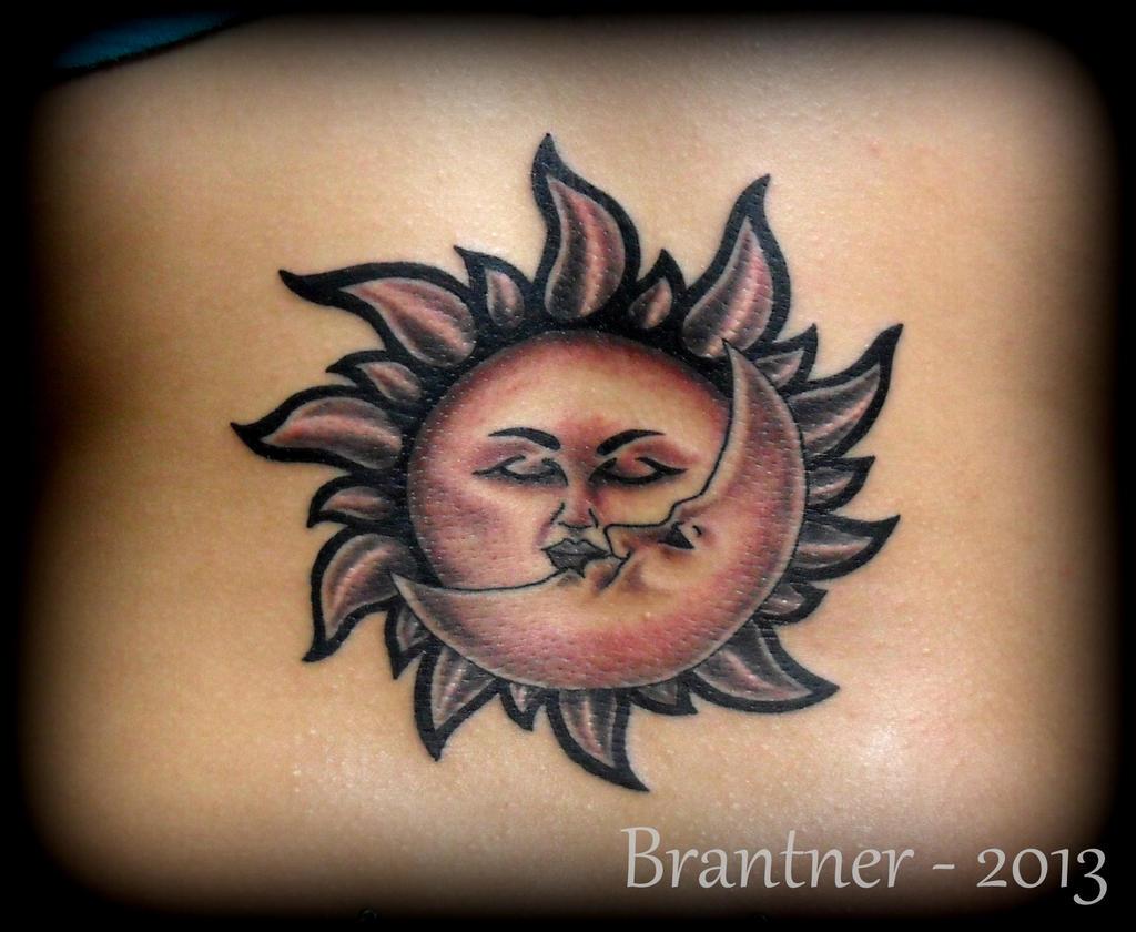 Sun and moon tattoo by brantnertattoo74 on deviantart for Sun moon tattoo