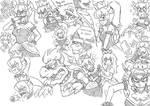 Bowsette Doodles
