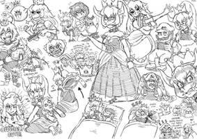 Bowsette Doodles 2