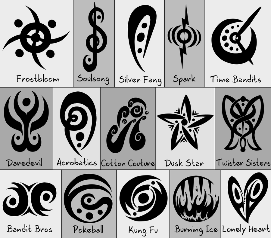 Artistic Symbols: PMD . Team Symbols By Hawkein On DeviantArt