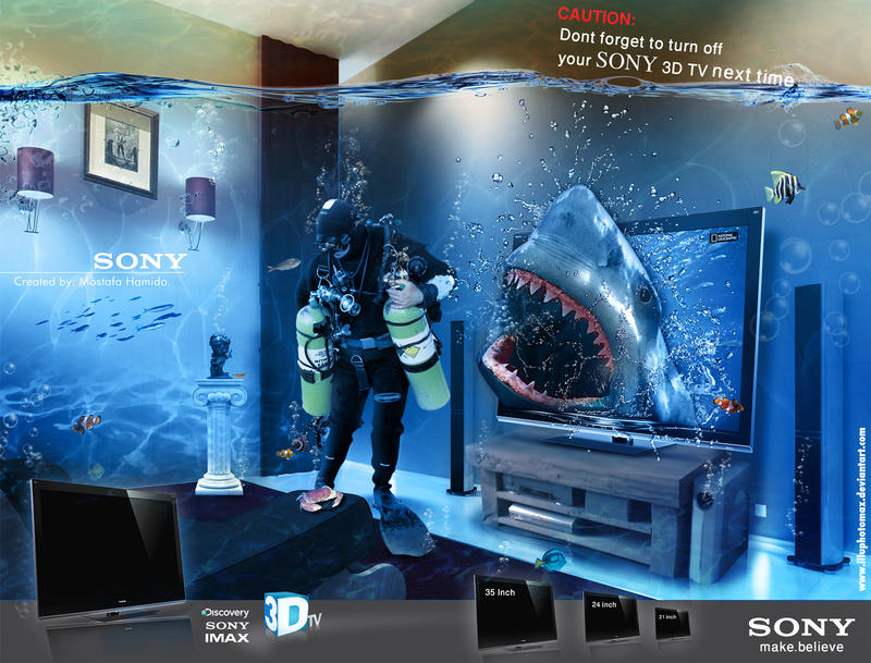 SONY 3D TV by illuphotomax