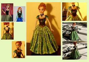 Frozen OOAK Custom Anna doll ~ SOLD! by Whitestar1802