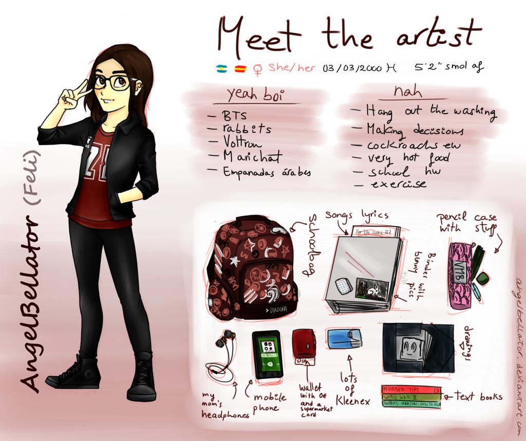 Meet the artist by AngelBellator
