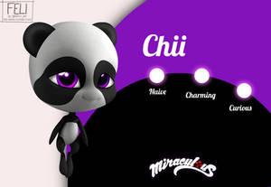 Mlb Miraculous oc - Panda Kwami Chii