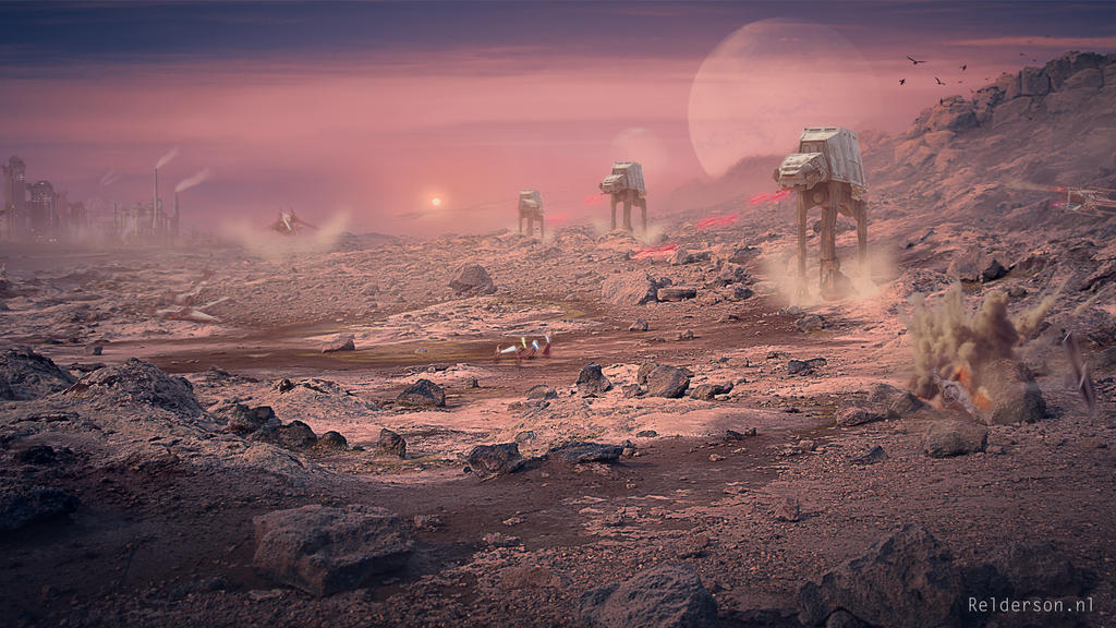 Star wars fan art matte painting by relderson on deviantart for Space matte painting