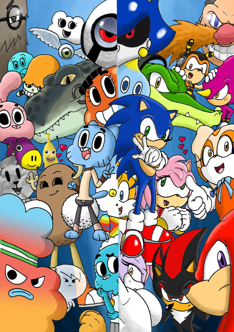 Gumball and Sonic Crossover by snapperboy