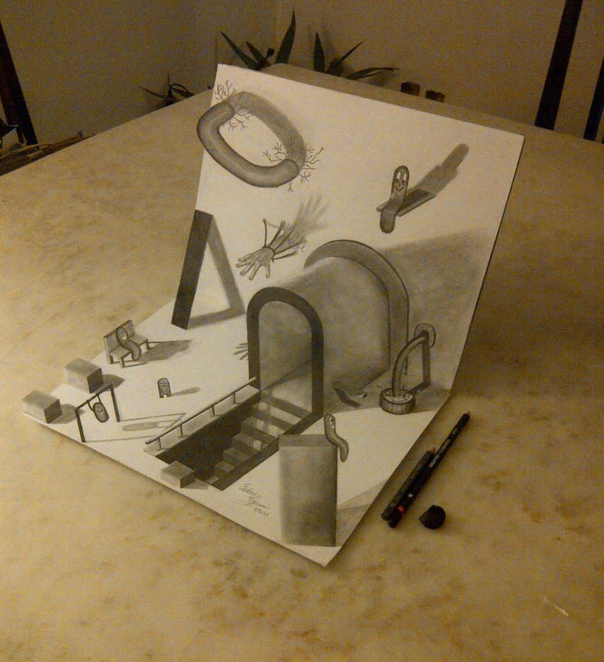 Another 3d Drawing By Fedevigevani On Deviantart