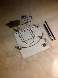 3D DRAWING - BASKETBALL COURT