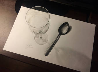 3D CUP | SPOON DRAWING by fedevigevani