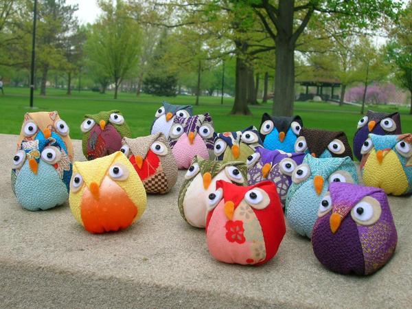 a flock of owls