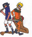 Naruto 'n Sasuke Commish.