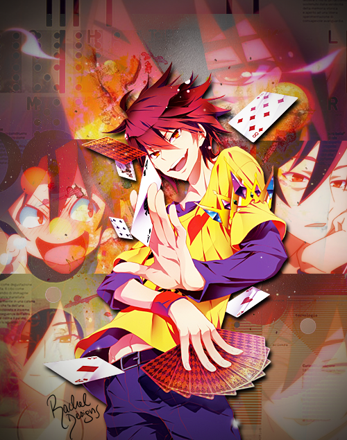 sora no game no life collage by wosz on deviantart