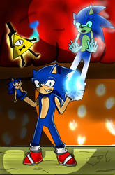 Sonic the hedgehog and gravity falls by trainhurtnt