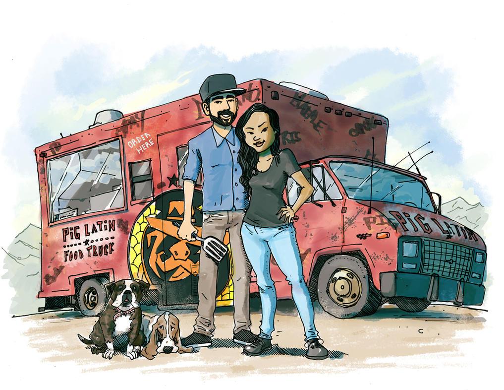 Pig Latin Truck by SilentKV
